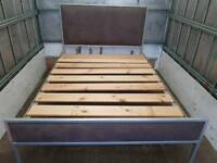 Metal Silver Double bed + Delivery