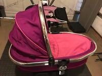 Fuchsia pink icandy twin stroller seat