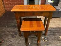 Unique Tribal Tables, £60 for large, £40 for small table.