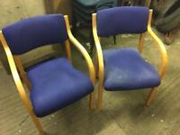 Matching pair of waiting room chairs