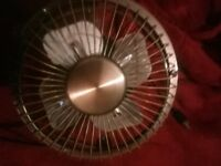 Usb fan brand new silver crome and gold
