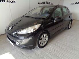 2008 08reg Peugeot 207 1.6 vti Black 94k Miles 5door Air Con CD 6months MOT HPi Clear £1199 to clear