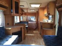 Hobby 650 Prestige 2005 Twin axle 5 berth fixed bed with full awning