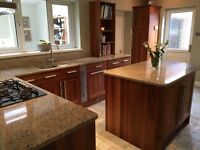 American Walnut Kitchen with granite work tops and appliances