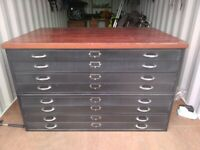 1960s Vintage Metal A0 Plan Chest Vintage Architects Drawers Vintage Industrial Drawers