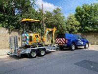 Construction Plant Transport Mini Tipper Digger CAT JCB Brokk Kubota Tower Light Generator Rhino