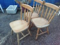 Wooden chairs (3)