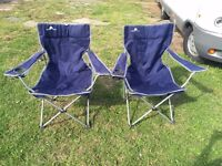 TWO BLUE CAMPING CHAIRS FOR SALE. Mail for information!