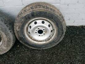 Citroen relay van wheel and new tyre 215 70 r15c