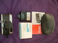Olympus Trip 35 Camera, Case, Flash and instructions, stored in cupboard clean condition