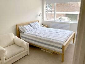 Spacious double room for single occupant in modern/quiet flat 10 minute walk from Guildford station.