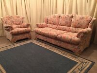 Sofa Bed Suite - 3 Seater Sofa With Pull Out Bed & 1 Armchair