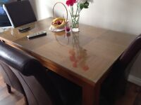 Solid wood Table and leather chairs must go today or tomorrow