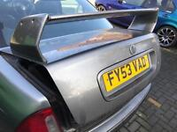 MG ZS 180 mk1 x power grey saloon bootlid and extreme spoiler