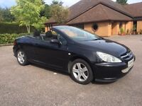 PEUGEOT 307 2.0 CC CONVERTIBLE HARD TOP BLACK SERVICE HISTORY PX WELCOME