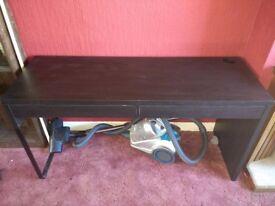 Black IKEA cabinet/desk