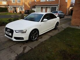 White Audi A4 2.0 TFSI Black Edition Quattro 5 door £15,000 ono!
