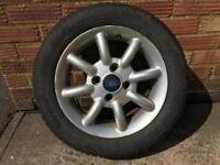 Pair of 165/60 R14 Wheels and tyres from 1.3L Ford KA (2007)