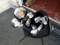 Full Set of Wilson Golf Clubs Inc Bag, Ball, Tees