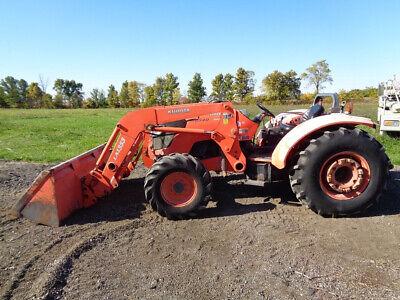 2008 Kubota M9540 Tractor La1353 Loader W Ssl Qa 12 Speed 2 Rear Remotes