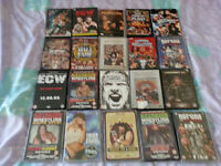 20 wwe wwf ecw wrestling dvds including wrestlemania