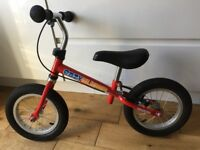 Red balance bike excellent condition Easy Glider