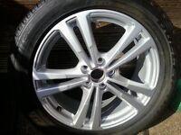235/50 r18 audi q3 twin spoke alloy wheel rim and tyre