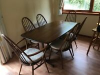 Ercol Dinning Room table and chairs