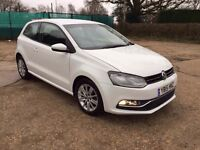 2015 VOLKSWAGEN POLO WHITE 1.2 PETROL ,1 YEAR MOT LOW MILEAGE 20000 IMMACULATE CONDITION