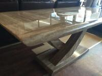 Ex-display marble table and 6 new Marcello chairs ONLY £820 BARGAIN!!!