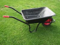 Wheel barrow 85 litre metal and strong only used a couple of times