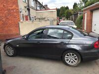 BMW e90 320i with 91k no airbag damage light front end damage