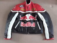 Mens Red Bull Racing Leather Jacket