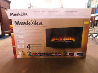 Muskoka 89CM/35IN 35PO Curved Wall Mount Electric Fireplace *Boxed* BARGAIN