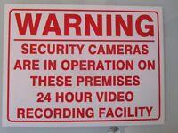 "COMPLETE SECURITY SYSTEM Digital Recorder, Three Eyeball Cameras and 15"" Alba TV ( monitor)"