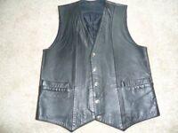 "Men's Leather ""Malec"" Waistcoat size 38"