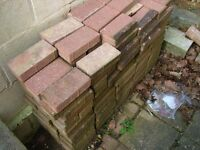 Approx 120 Brick Red Block Pavers - Some used but all good.