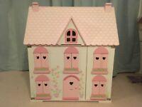 ELC rosebud Cottage Dolls House With furniture