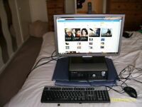 """dell optiplex sff pc dell 22""""widescreen monitor hp keyboard and mouse"""