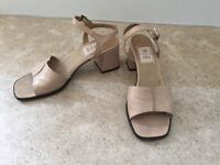 Sand Coloured Leather Sandals