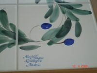 Hand painted tiled Italian dining table by Nicola Fasano