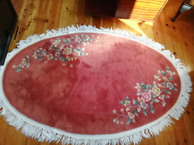 Chinese Oval Rug - Pink/Red