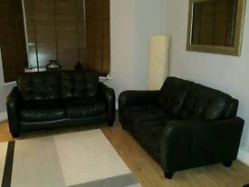 2 x two seater DFS leather Sofas