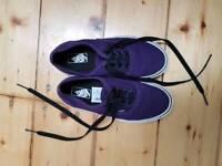 Vans shoes UK 1 purple worn once