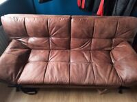 Bensons for Beds NISTEX001 Texas Faux Leather Sofa Bed - Brown