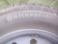 Wheel rim and tyre to suit a Renault. 185/60r15