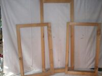 Timber window sash frames in quality pine softwood.