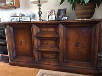 Sideboard, good quality. solid dark wood. heavy