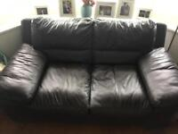 FREE Italian Mocha Leather Sofa - 2 Seater