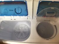Portable twin tub 5kg washer and 3kg dryer